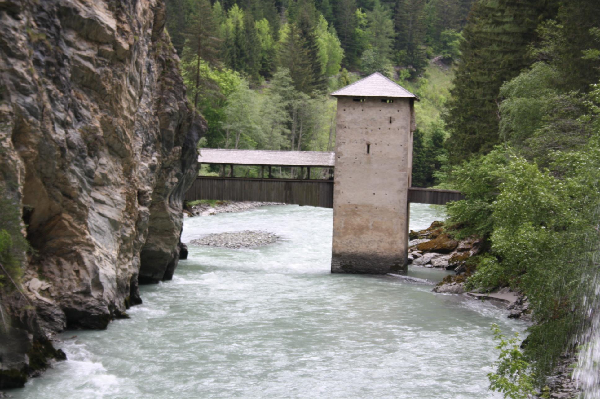 Holzbrücke von Alt Finstermünz