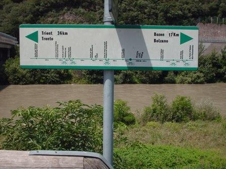 Etschtalradweg zwischen Bozen und Trient