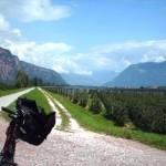 Etschtalradweg kurz hinter Bozen